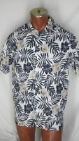 Chaps Ralph Lauren Hawaiian Camp Shirt M Black White Blue Orange Golf Design
