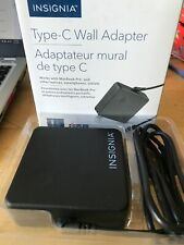 INSIGNIA 90W USB TYPE-C WALL CHARGER For USB-C Macbook Pro Chromebook Tablets