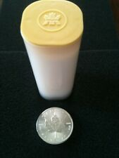 ONE ROLL OF 25 CANADIAN 2014 $5 MAPLE LEAF .9999 SILVER COINS IN MINT TUBE