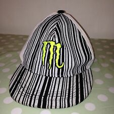 "Black & White MONSTER 3D Embroidered Baseball Cap By COCO 7 1/4"" 58cm"