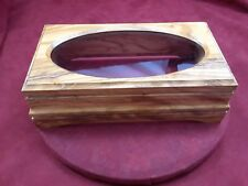 SPANISH OLIVEWOOD MUSIC BOX CABINET ONLY - HAND MADE - OVAL GLASS TOP 72 NOTE