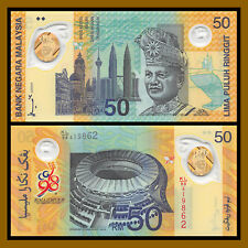 Malaysia 50 Ringgit, 1998 P-45 Come Commonwealth Games In Original Folder UNC