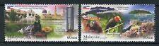 Malaysia 2018 MNH Tourism Sabah 2v Set Birds Trains Orangutans Flags Stamps