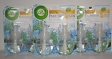 3 Air Wick Essential Oils Fresh Waters Fragrance Scented Oil 1.34 FL OZ NEW