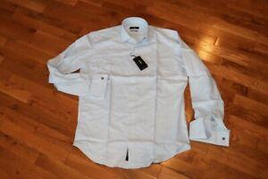 BNWT Hugo Boss Gardner Regular Fit French Cuff Dress Shirt Size 15.5 MSRP $148!!