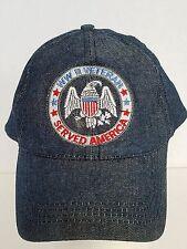 WWII World War II Veteran Served America Military Ball Cap Hat