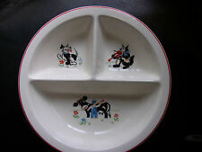 WONDERFUL Vintage Salem China Co.Ceramic Sectional Baby Toddler Child Plate