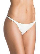 NWT Women's Roxy Lacy Days Mini Egret White Bikini Bottoms Size Large