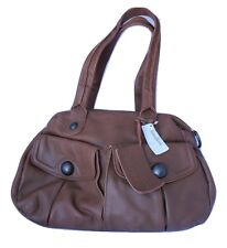 Linea Pelle Serena Brown Satchel Handbag Shoulder Leather STRAP INC. NWT $525