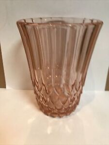Pink Art Deco Glass Vase