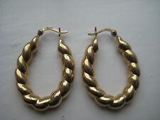 Boucles d'oreilles or créoles CERCEAU EN OR JAUNE 9 carats