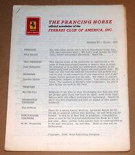 Prancing Horse Magazine #16  Ferrari Club of America Q1 1968