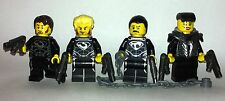 original LEGO parts only - 4 General ZOD henchmen - kryptonian army + weapon