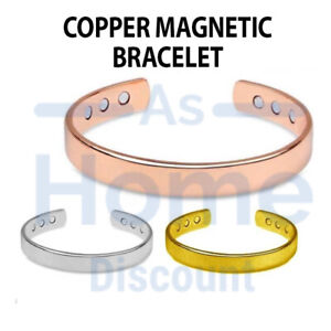 Magnetic Copper Bracelet Healing Bio Therapy Arthritis Pain Relief Bangle Women
