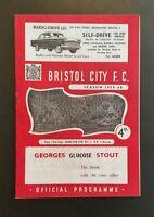 Bristol City v Charlton Athletic Programme 15/09/59
