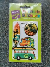 Magnetic stickers fun surf holiday hippie scrapbooking decals