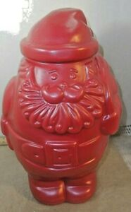 "Packer Ware Santa Container, Cookies / Treats,12"" Tall,"