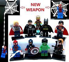 9pcs Spiderman New weapon Captain America Ironman Batman Thor Hawkeye Superman