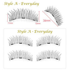 BF Natural Extension 3d Triple Magnetic Handmade Fake Eyelashes Tweezer 3068 a - Everyday