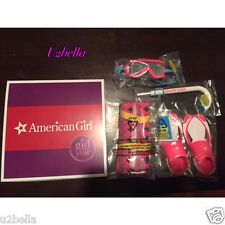 American Girl Doll LEA'S BEACH ACCESSORIES Towel Snorkel Flippers NEW FOR LEA