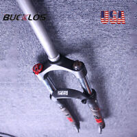 "26/27.5/29"" MTB Bike Suspension Fork 100mm Travel 9mm QR 1-1/8"" Threadless Disc"