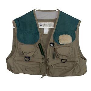 Vintage 1990s Columbia PFG Shortie Fly Fishing Vest Men's Size Medium