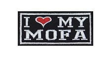 I Love my Mofa Heavy Biker Rocker Patch Aufnäher Bügelbild Kutte Motorrad T158