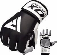 RDX Leder Handschuhe Kampfsport Sparring MMA handschuhe Training Gloves DE