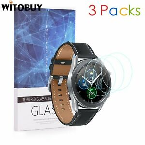 For Samsung Galaxy Watch 3 (45mm Ver.)Tempered Glass Screen Protector 9H 3 Packs
