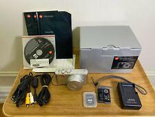 Leica D-Lux 3 Silver 10Mp Digital Camera Leather Case Original box + accessories