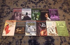 Lot of 11 Classic Horror books Frankenstein Dracula Jekyll and Hyde and more