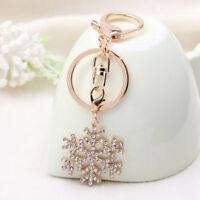 For Woman Ladies Christmas Gift Snowflake Keychain Pendant Key Ring Jewelry