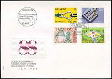 Svizzera 1988 Pubblicità EMISSIONE FDC primo giorno Coperchio #C 20173