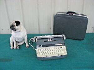 Vintage Smith Corona Electra 120 Electric Portable Typewriter Gray with Case