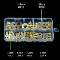 150PCS Ring Terminal Cable Lug Bare Terminal Cable Connector Multi-Purpose