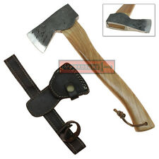 Textured Stainless Steel Travel Axe Hiking Camping Backpacking Tool Hatchet Wood