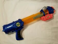 Blue Nerf Reactor Gun Ballistic Green Ball Atom Launcher Shooter Pump Action