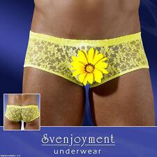 SJ sexy señores mini-Pants amarillo flúor punta hipster shorts slip l 7 8