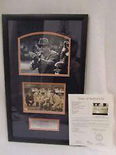 George Halas (Died 1983) Chicago Bears Autographed & Framed 6x8 Photo – JSA LOA