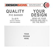 PVC Banner - 3x6ft + YOUR ARTWORK - Personalised/Custom/Shop/Party/Advertisement