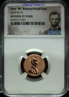 "2019 W ""First W"" NGC Reverse Proof 70 Lincoln Cent ☆☆ Great Set Builder ☆☆"