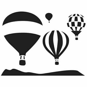 Hot Air Balloons Stencil - A4/A5/A6