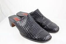 Cole Haan Resort Studio Black Leather Mesh Weave Slip-on Colgs Size 9 B 9271