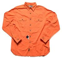 Polo by Ralph Lauren Mens $98 Bright Orange Long Sleeve Pocket Button Up Shirt