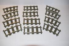 Lego 9V Schienen 8 gebogene und 4 gerade für 9 Volt Eisenbahn
