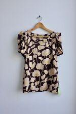 Diane von Furstenberg floral silk top blouse RRP £159 UK8 UK10 DVF BNWT