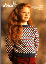 EMU Knitting Pattern, Bambino Maglione, 6815, 26-32 in