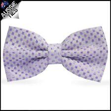 Lavender Purple 3D Check Bow Tie Men's Bowtie