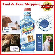 Dog Dental Water Additive Cat Oral Care Fresh Breath Advanced Whitening 17oz