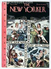 New Yorker magazine January 4 1941 Ilonka Karasz year to come NEAR MINT